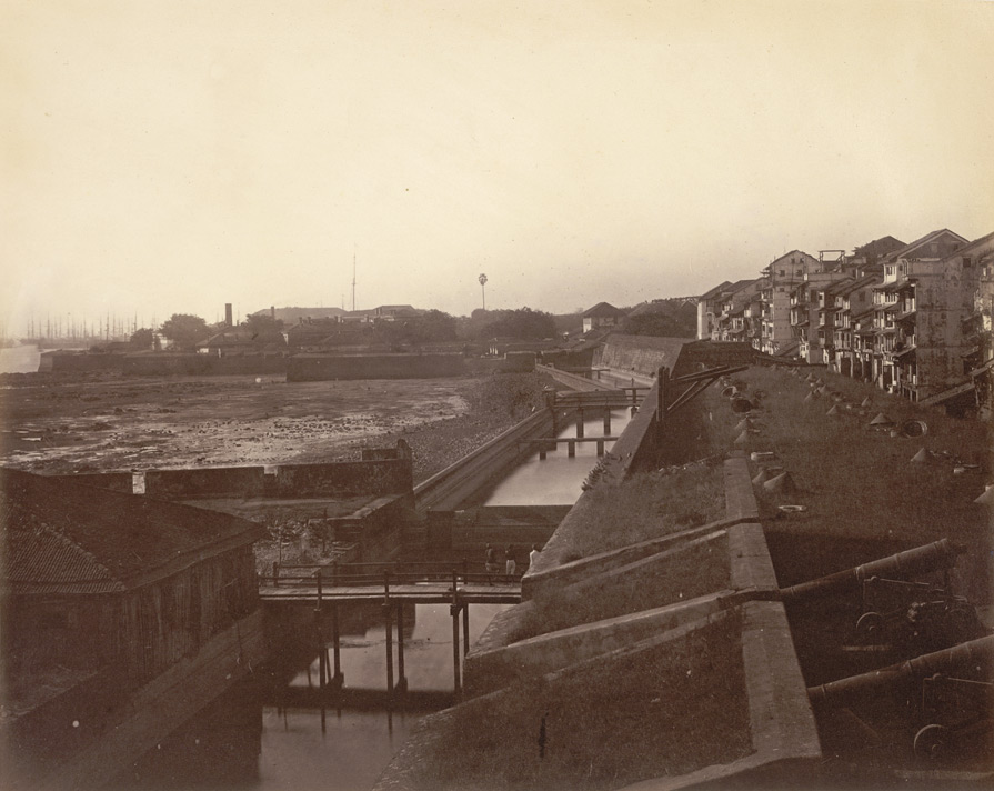 The Fort, Bombay, Harbour face, 1863.
